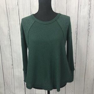 Anthropologie Eri + Ali Green Long Sleeve Thermal